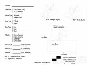 1030 & 1070 Newton Kwik Dump Valve Custom Order Form